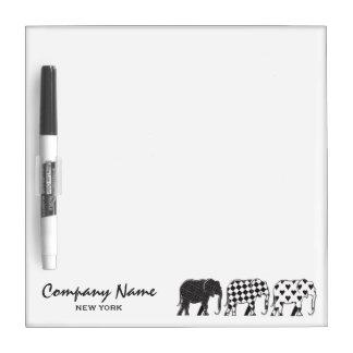 Elephant Stylish Black White Modern Company Dry Erase Board