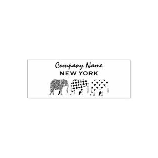Elephant Stylish Black White Modern Company Self-inking Stamp