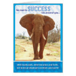Elephant Success Greeting Cards