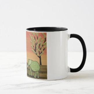 Elephant Sunset Mug