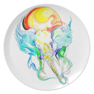 elephant sunshine plate
