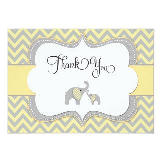 Elephant Thank You Card 13 Cm X 18 Cm Invitation Card