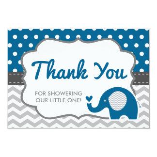 Elephant Thank You Card, EDITABLE COLOR 9 Cm X 13 Cm Invitation Card