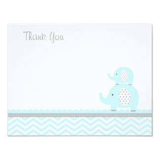 Elephant Thank You Card 11 Cm X 14 Cm Invitation Card