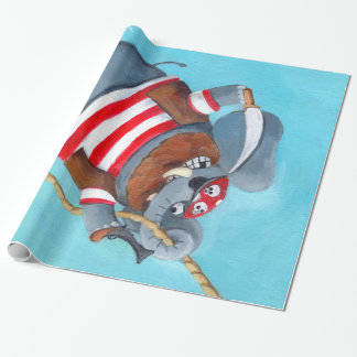 Elephant - The Best Pirate Animal Wrapping Paper