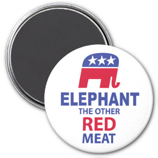 Elephant The Other Red Meat 7.5 Cm Round Magnet