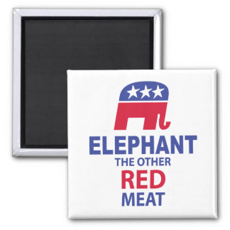 Elephant The Other Red Meat Square Magnet