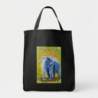 Elephant theme reusable shopping bag