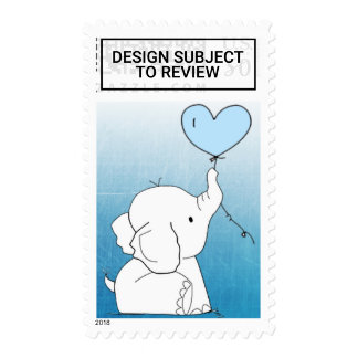 Elephant Themed Baby Shower Postage Stamps