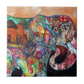 Elephant Small Square Tile