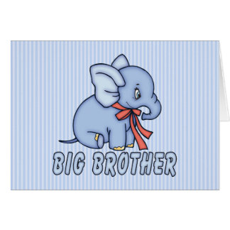 Elephant Toy Big Brother Stationery Note Card