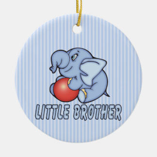 Elephant Toy Little Brother Round Ceramic Decoration