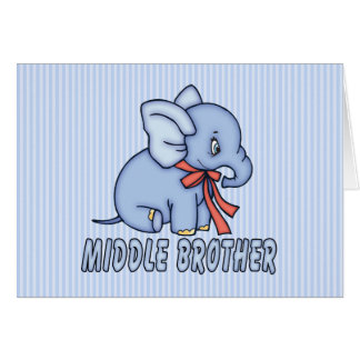 Elephant Toy Middle Brother Note Card