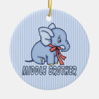 Elephant Toy Middle Brother Christmas Ornament