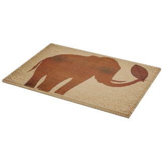 Elephant Tribal Art Design Cutting Boards