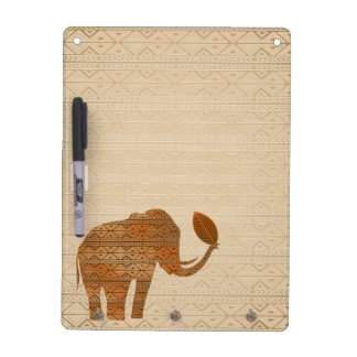 Elephant Tribal Art Design Dry Erase Board