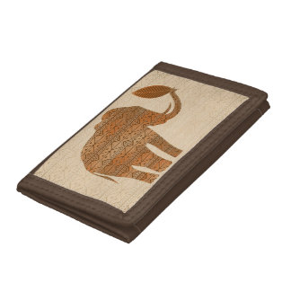 Elephant Tribal Art Design Wallets
