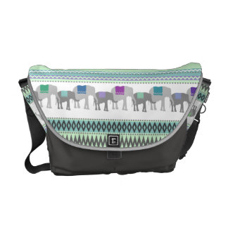 Elephant Tribal Pattern Messenger Bags
