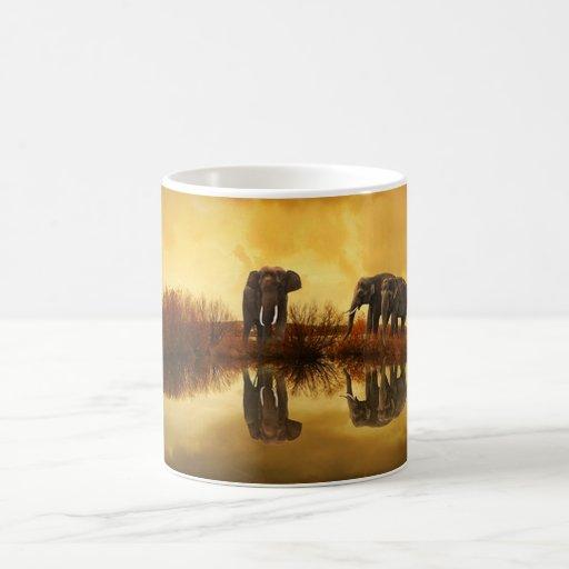Elephant Trio Wildlife Coffee Mug