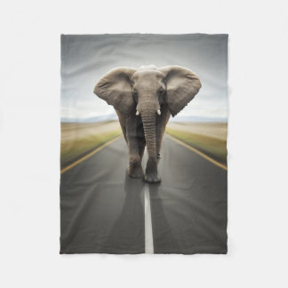Elephant Trucker Small Fleece Blanket