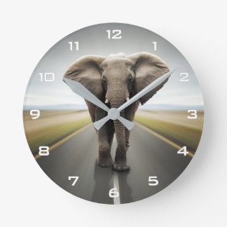Elephant Trucker Wall Clock