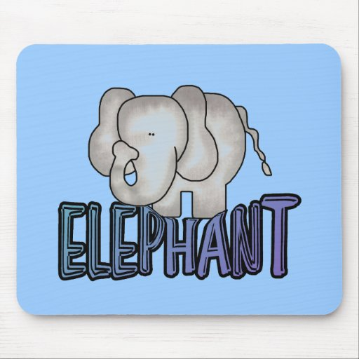 Elephant Tshirts and Gifts Mousepads