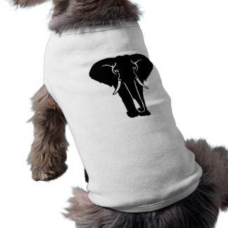 Elephant tusk sleeveless dog shirt