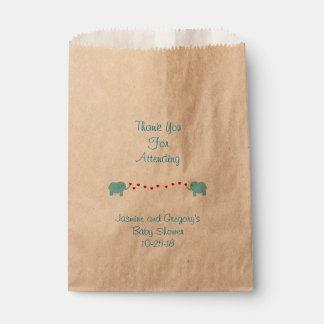 Elephant Twin Boys Favor Bag