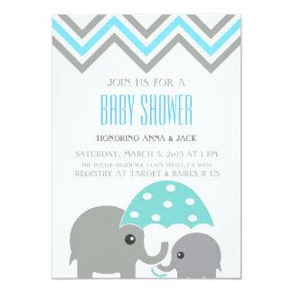 Elephant Umbrella Baby Shower Party Invitation