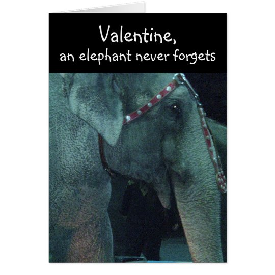 ELEPHANT, VALENTINE card