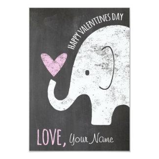 Elephant Valentines Day Kids Card for Classroom 9 Cm X 13 Cm Invitation Card