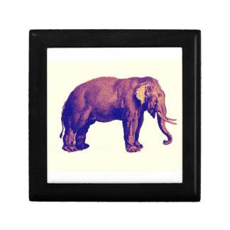Elephant Vintage Illustration India Animal Antique Jewelry Boxes