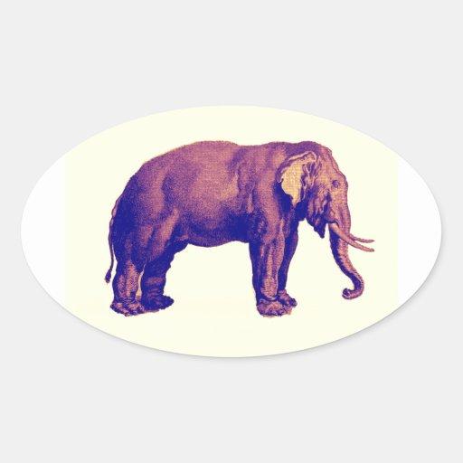 Elephant Vintage Illustration India Animal Antique Stickers