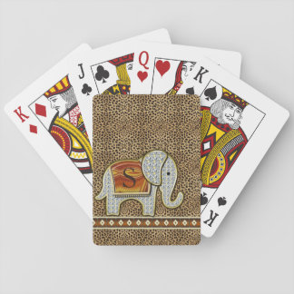 Elephant Walk Monogram Cheetah ID390 Poker Deck