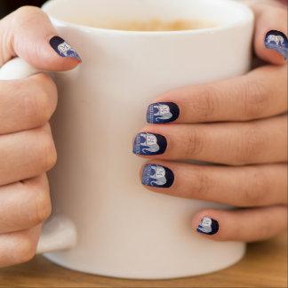 Elephant Walk Monogram Silver/Blue ID390 Minx Nail Art