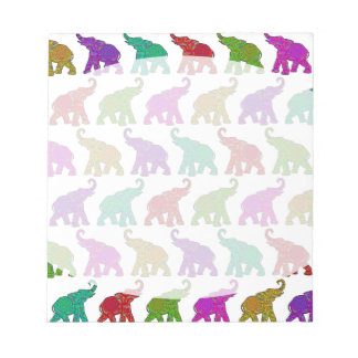 Elephant Walk pattern tiles design Notepads
