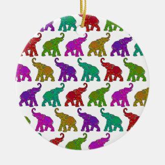 Elephant Walk pattern tiles design Round Ceramic Decoration