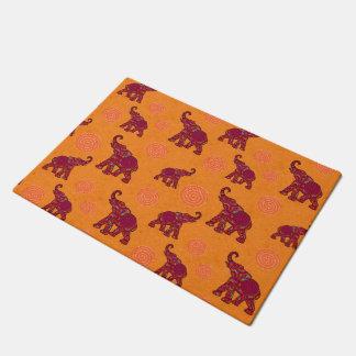 Elephant Walk pattern tiles design + your backgr. Doormat