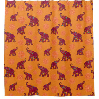 Elephant Walk Pattern + your backgr. & ideas Shower Curtain