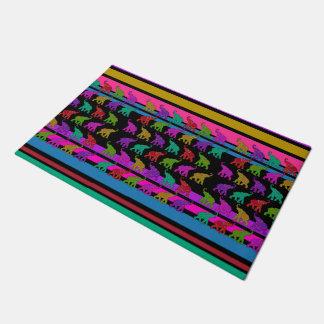 Elephant Walk & stripes + your ideas Doormat