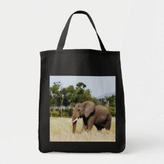 Elephant walking Masai Mara Plains in Kenya bag