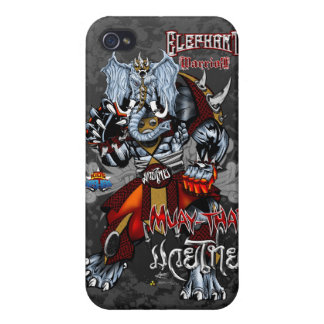 Elephant Warrior - Muay-Thai - iPhone-1 iPhone 4/4S Cover