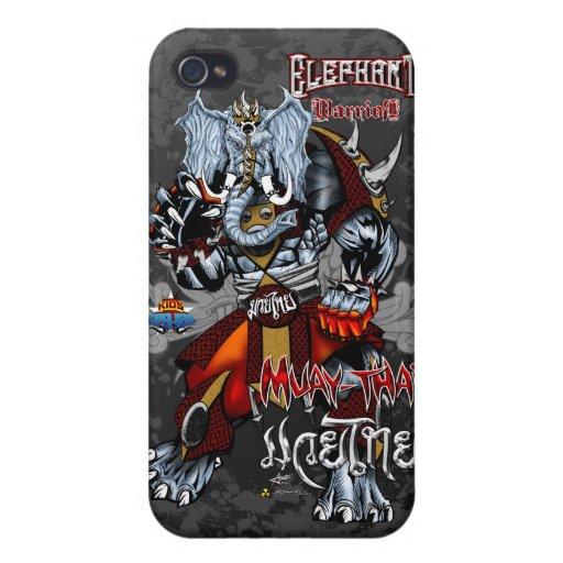 Elephant Warrior - Muay-Thai - iPhone-1 iPhone 4/4S Covers