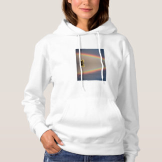 Elephant, water, and rainbow, Kenya Hoodie