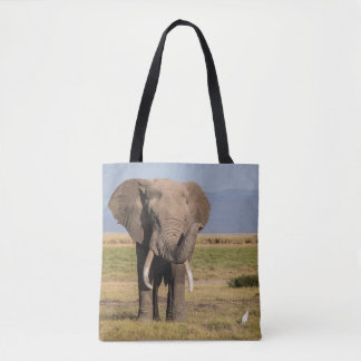 Elephant Waving its Trunk Tote Bag