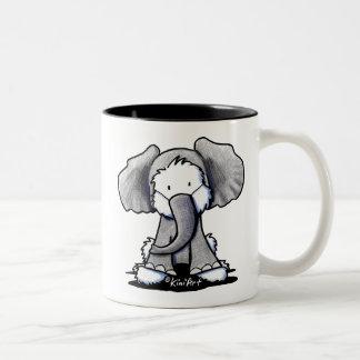 Elephant Westie Terrier Two-Tone Coffee Mug