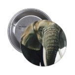 """Elephant"" Wildlife Animal Watercolor Pinback Button"