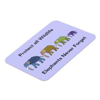 Elephant Wildlife Protection Premium Magnet