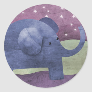 Elephant wishes upon a star - stickers