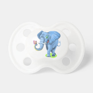 Elephant with Butterfly Cartoon Pacifier